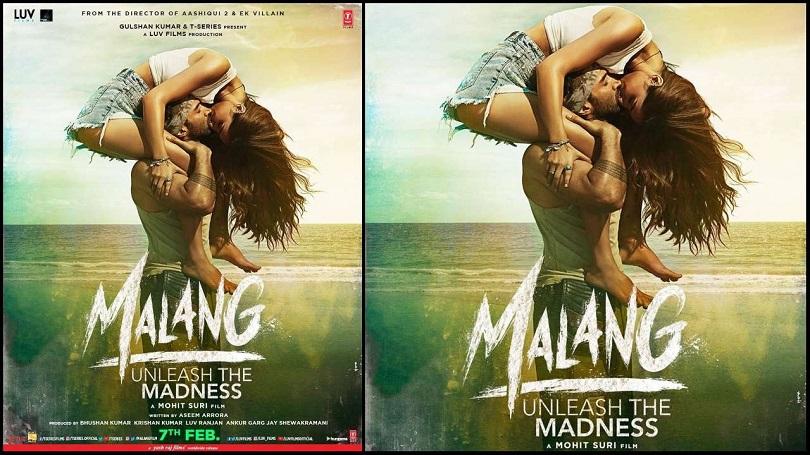 'मलाङ' को पोस्टरमा रोमान्टिक आदित्य र दिशा