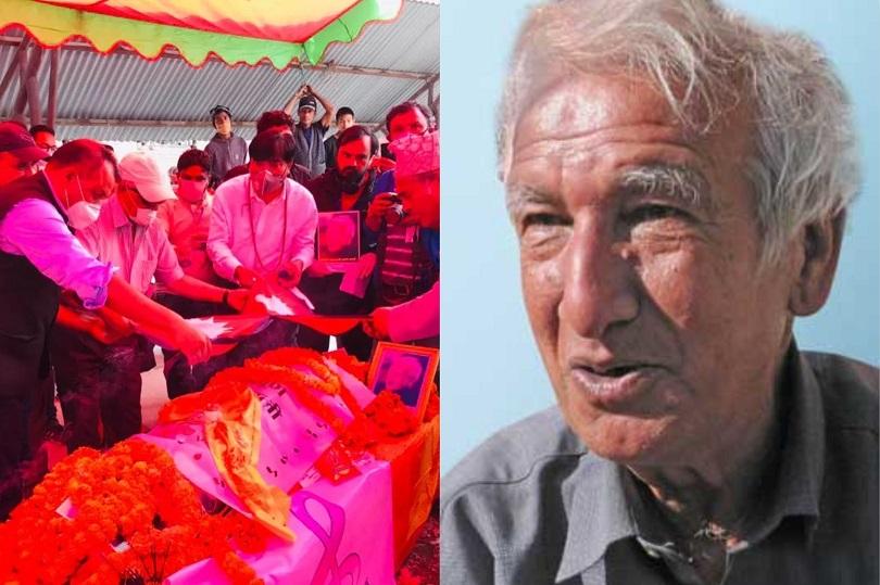 रन्त्न शमशेरको पार्थिव शरीरमा गगन थापाले ओढाए राष्ट्रिय झन्डा