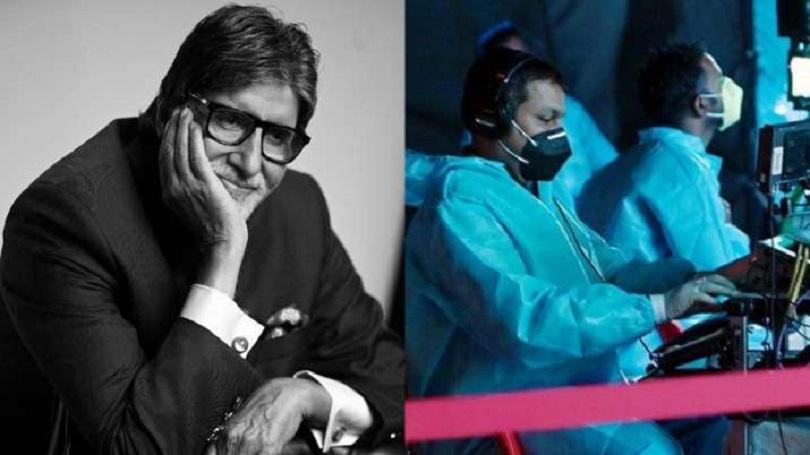 'कौन बनेगा करोडपति'को छायाङ्कन सेटमा अमिताभ बच्चन