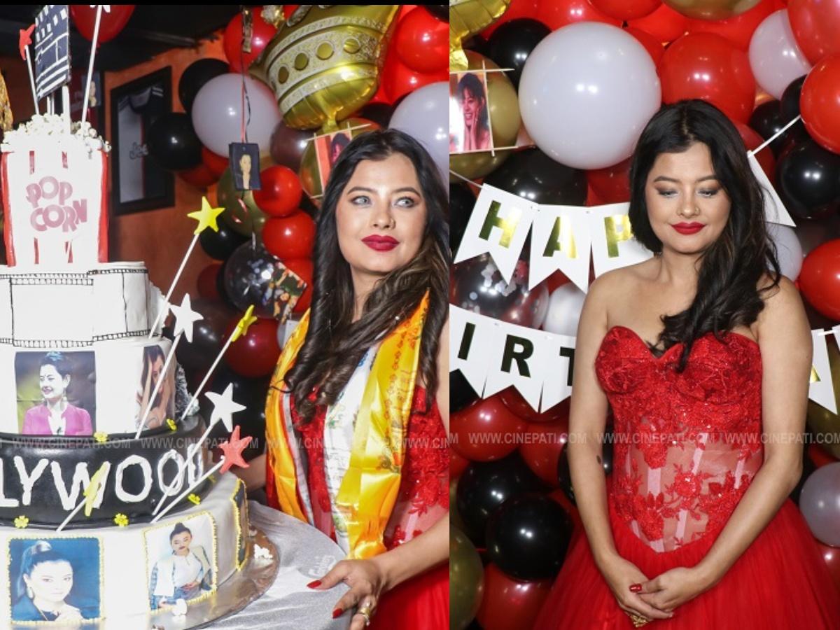 जन्मदिनमा रातो ड्रेसमा सजिएकी सुष्मा (फोटो फिचर)