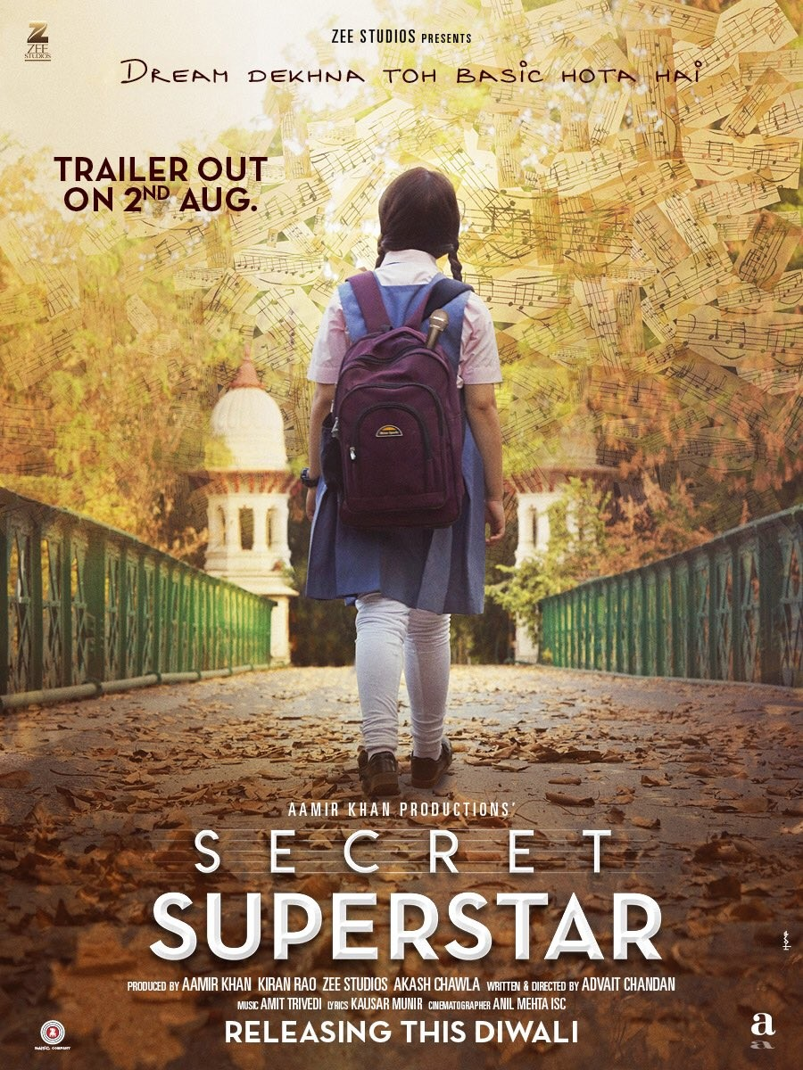 आमिर खानको फिल्म 'सीक्रट सुपरस्टार'को पहिलो पोस्टर रिलिज