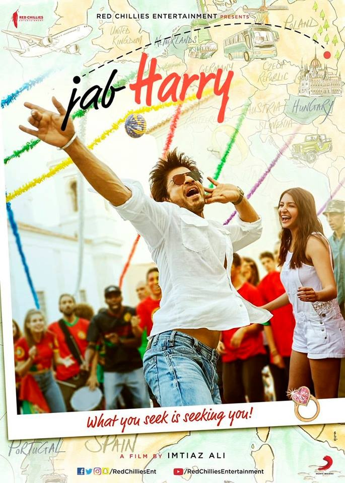शाहरुख र अनुष्का अभिनित 'जब ह्यारी मिट सेजल'को पोस्टर सार्वजानिक
